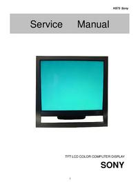 Servicehandboek Sony HS75