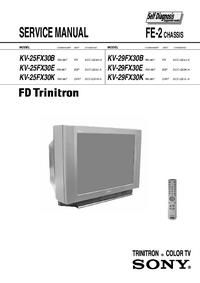 Instrukcja serwisowa Sony KV-25FX30E