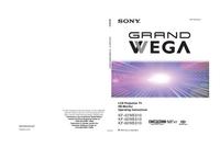 Manual do Usuário Sony KF-50WE610