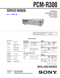 Manual de servicio Sony PCM-R300