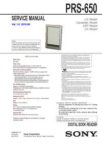 Руководство по техническому обслуживанию Sony PRS-650
