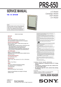 Serviceanleitung Sony PRS-650