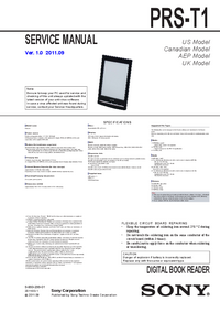 Service Manual Sony PRS-T1