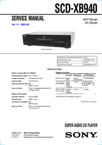 Manual de servicio Sony SCD-XB940