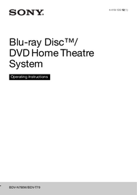 User Manual Sony BDV-N790W