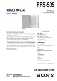Service Manual Sony PRS-505