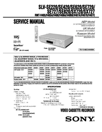 Manual de servicio Sony SLV-SE420