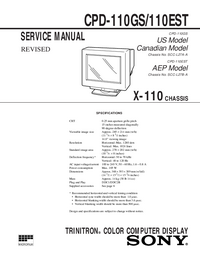 Manual de servicio Sony CPD-110GS