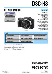 Manual de servicio Sony DSC-H3