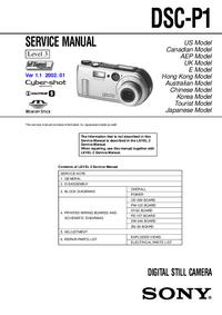 Manual de serviço Sony DSC-P1