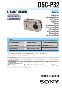Manual de serviço Sony DSC-P32