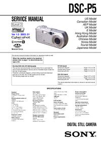 Manual de servicio Sony DSC-P5