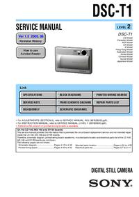 Serviceanleitung Sony DSC-T1