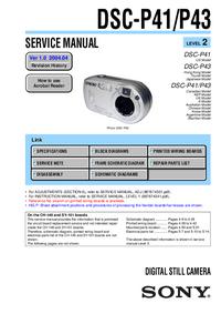 Manuale di servizio Sony DSC-P43