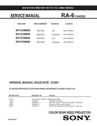 Service Manual Sony KP-57HW40