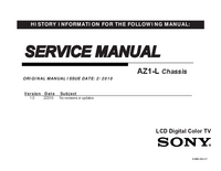 Manual de servicio Sony KDL-32EX405