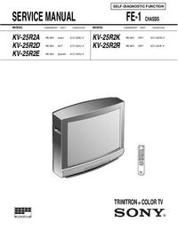 Руководство по техническому обслуживанию Sony KV-25R2R