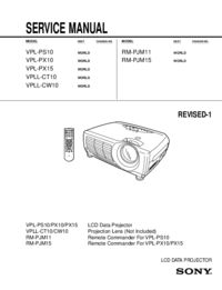 Service Manual Sony VPLL-CW10