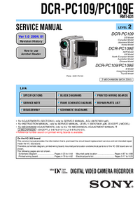 Manual de servicio Sony DCR-PC109