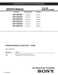 Instrukcja serwisowa Sony KDF-46E2010