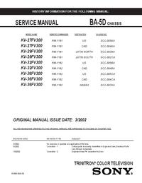 Instrukcja serwisowa Sony BA-5D