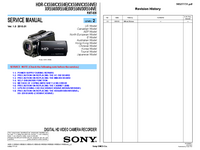 Manual de servicio Sony HDR-XR550E