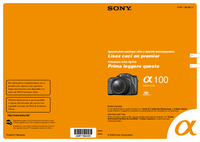 Manual del usuario Sony DSLR-A100