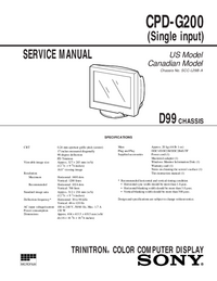 Service Manual Sony CPD-G200