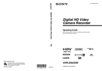 Manual del usuario Sony HVR-Z5U