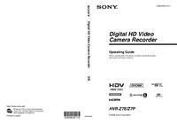 Gebruikershandleiding Sony HVR-Z7P