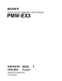 Manual de servicio Sony PMW-EX3