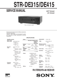 Service Manual Sony STR-DE315