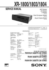 Schéma cirquit Sony XR-1800