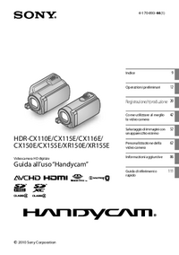 User Manual Sony HDR-CX150E