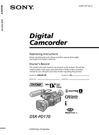 Manual del usuario Sony DSR-PD170