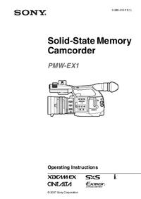 Instrukcja obsługi Sony PMW-EX1