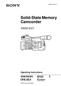 Manuale d'uso Sony PMW-EX1