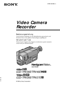 User Manual Sony CCD-TRV27E