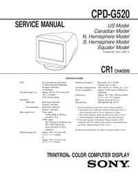 Manual de servicio Sony CR1