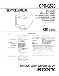 Serviceanleitung Sony CPD-G520