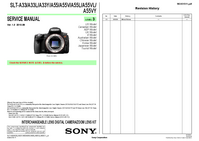 Manual de servicio Sony SLT-A33