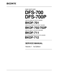 Manual de servicio Sony DFS-700