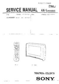 manuel de réparation Sony AX-1