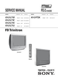 Service Manual Sony KV-21LT1E