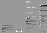 User Manual Sony Cybershot DSC-H2
