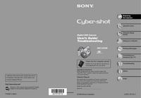 User Manual Sony Cybershot DSC-H5