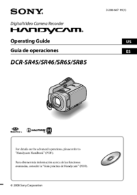 Manual del usuario Sony DCR-SR45