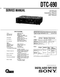 Manual de servicio Sony DTC-690