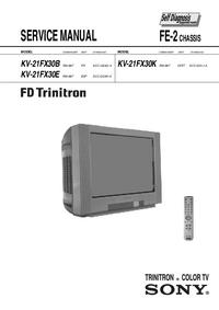 Manual de serviço Sony KV-21FX30E