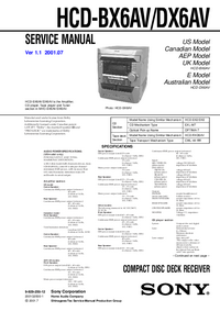 Service Manual Sony HCD-BX6AV